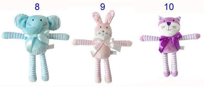 42 cm 16.5 pulgadas Kids Easter Rabbit bear Peluches Bebé Blanco y Beige Suave Conejito Durmiendo muñeco de peluche Juguetes para niños pequeños Regalo de los niños A08