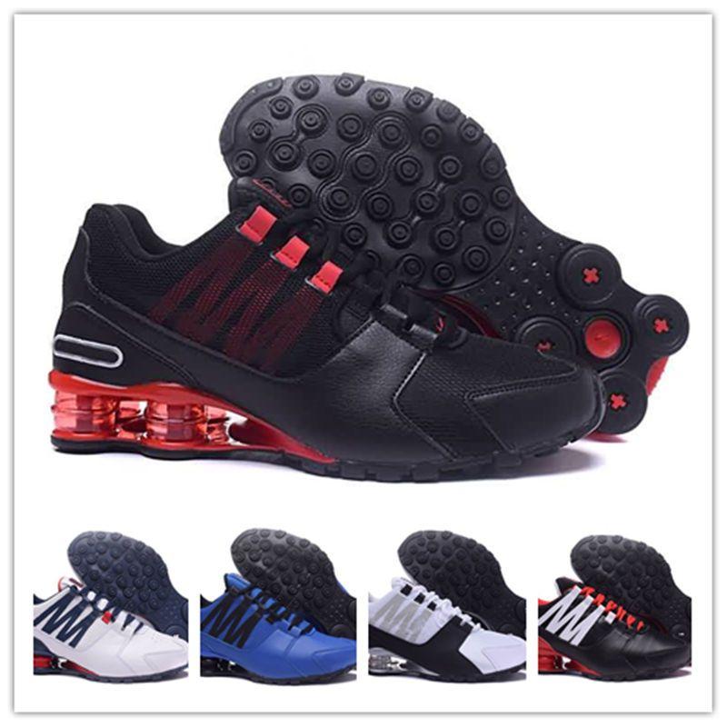 7115a0fe965e Original Shox Avenue 802 803 Mens Running Shoes Athletic Outdoor Walk Shoes  Chaussure Homme Shox Nz Men Designer Trainers Tn Plus Eur40 46 Men Shoes  Online ...