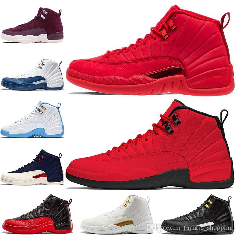 Großhandel Nike Air Jordan 12 Retro AJ12 Gym Red 12 12s Mens Basketball  Schuhe Bulls Bordeaux Grippe Spiel College Navy TAXI Der Meister Playoffs  PSNY ... dd19633afd