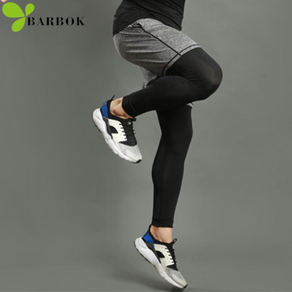4e1f79d70 2019 BARBOK Men Running Sports Leggings Shorts Suits Set Anti Sweat ...