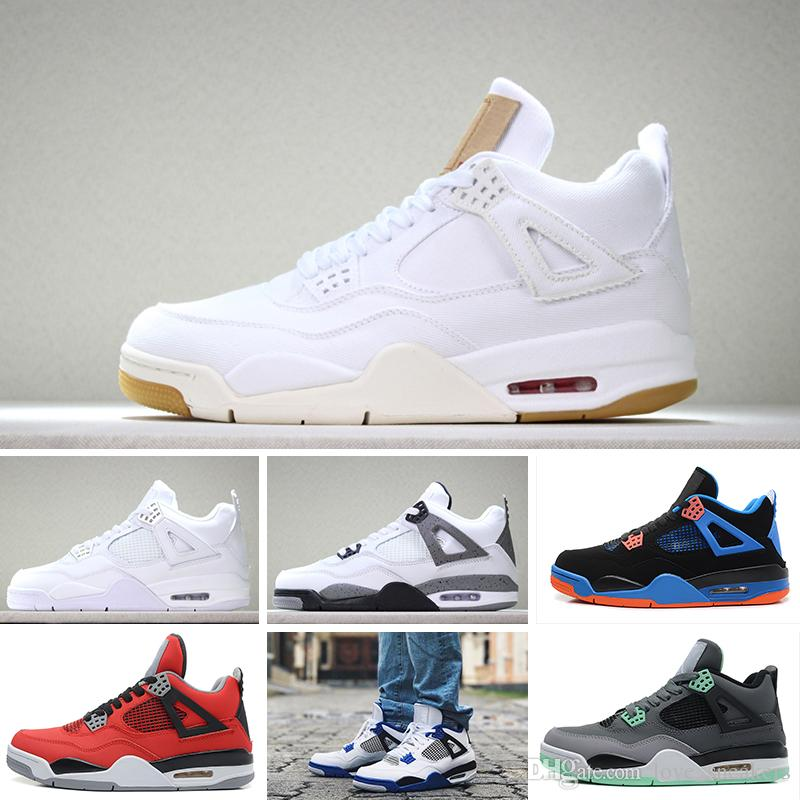 info for da915 767d4 Acquista Nike Air Jordan 4 Retro Basketball Shoes Pure Money Shoes Mens 4s  BRED Royalty White Cemento Motors Outdoor Con Box Designer Sneaker Shoes A   94.42 ...
