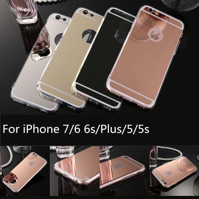 Spiegel telefon case für iphone xr 5s 6 7 8 plus weiche tpu fällen rückseitige abdeckung für samsung galaxy s6 a3 s8
