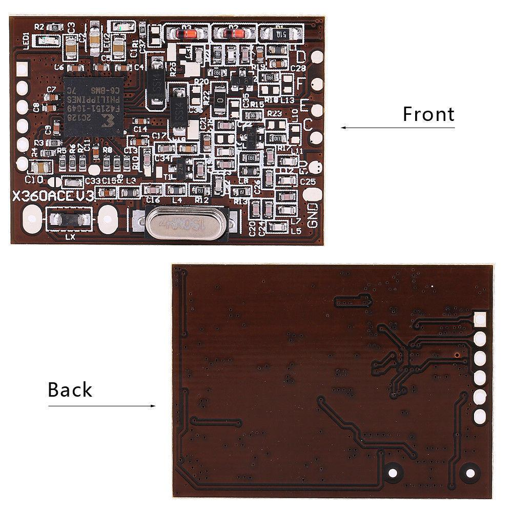 For X360 ACE V3 360 machine pulse chip Crystal Coffee Edition 150MHZ With  Slim cable