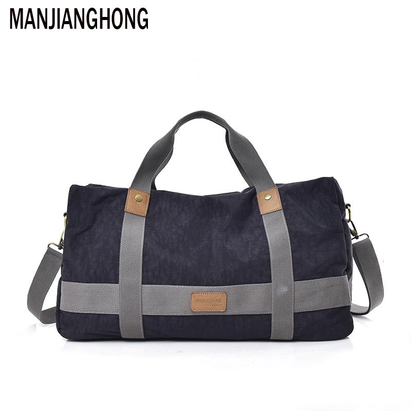 2018 New Large Capacity Men S Hand Luggage Travel Totes Duffle Bags Nylon  Male Weekend Shoulder Bags Women High Quality Duffle Bags For Women Wheeled  Duffle ... e38ddbb0837d7
