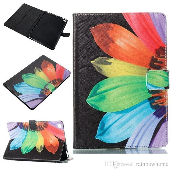 Butterfly Owl Flower PU Leather Stand Wallet Flip Card Slots Case for New Ipad 2017 2018 Pro 9.7 234 5 Air2 mini 1234 Samsung Tab A 8.0 T380