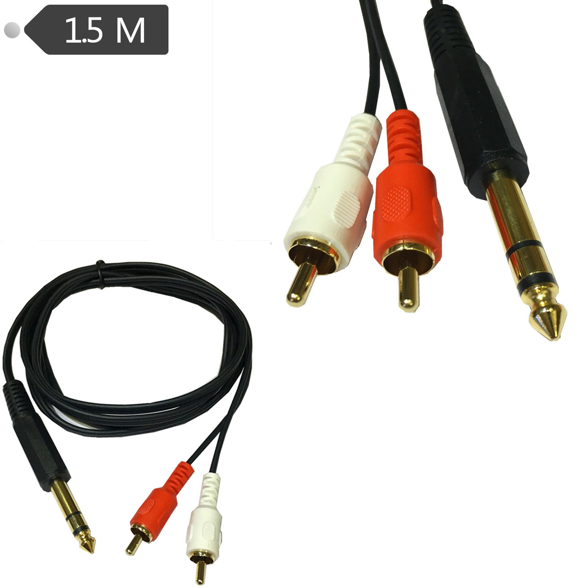 6.35mm Male Jack To 2 RCA Phono Male Jack Stereo Audio Y Splitter Cable  1.5m Computer Printer Cables Identify Computer Cables From Candybin, $5.02|  DHgate.