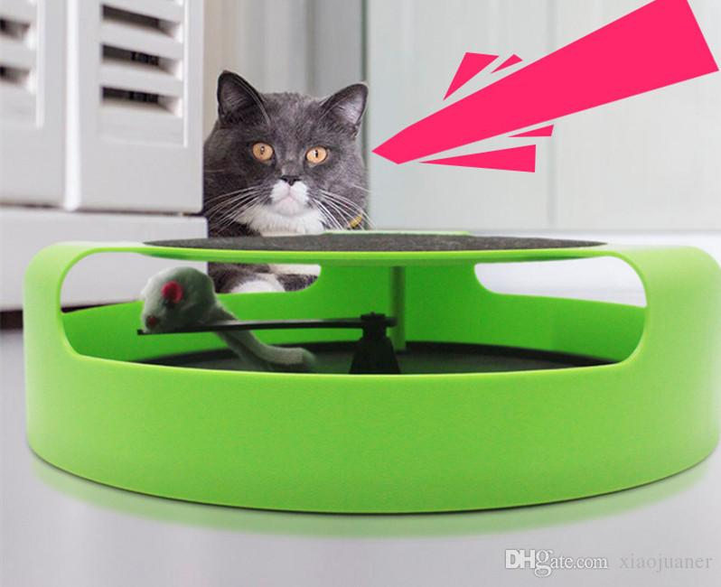 Funny Pet cat Turntable toy Game Interactive Amusement Puzzle mouse thickened toy DiscoToy Rack Pet Accessories supplies product