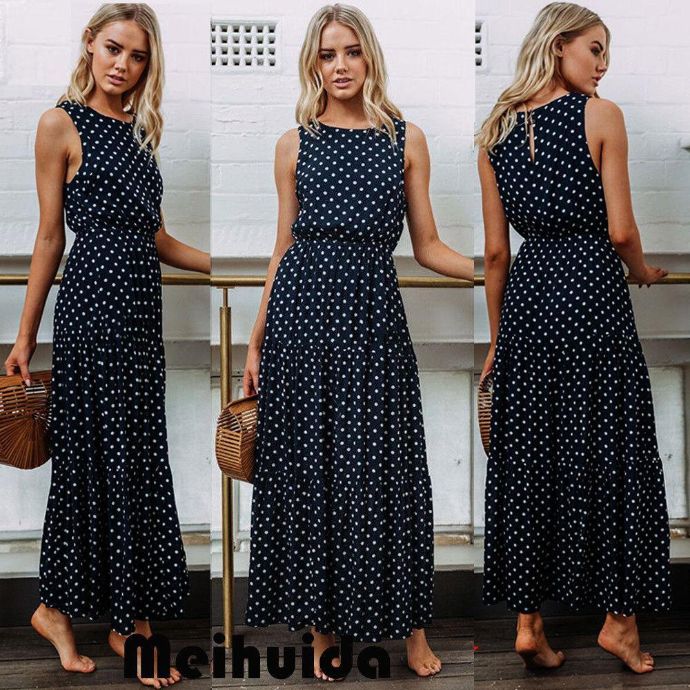 2587f531a5 Women S Summer Boho Casual Long Maxi Evening Party Cocktail Beach Dress  Sundress Party Dresses Teenagers Dress Styles For Ladies From Besttbuy