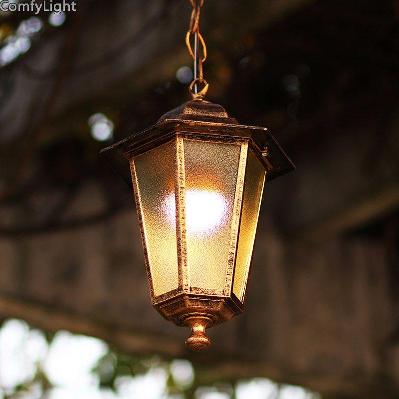 Waterproof Outdoor Lighting Vintage Villa Retro Led Pendant Lights