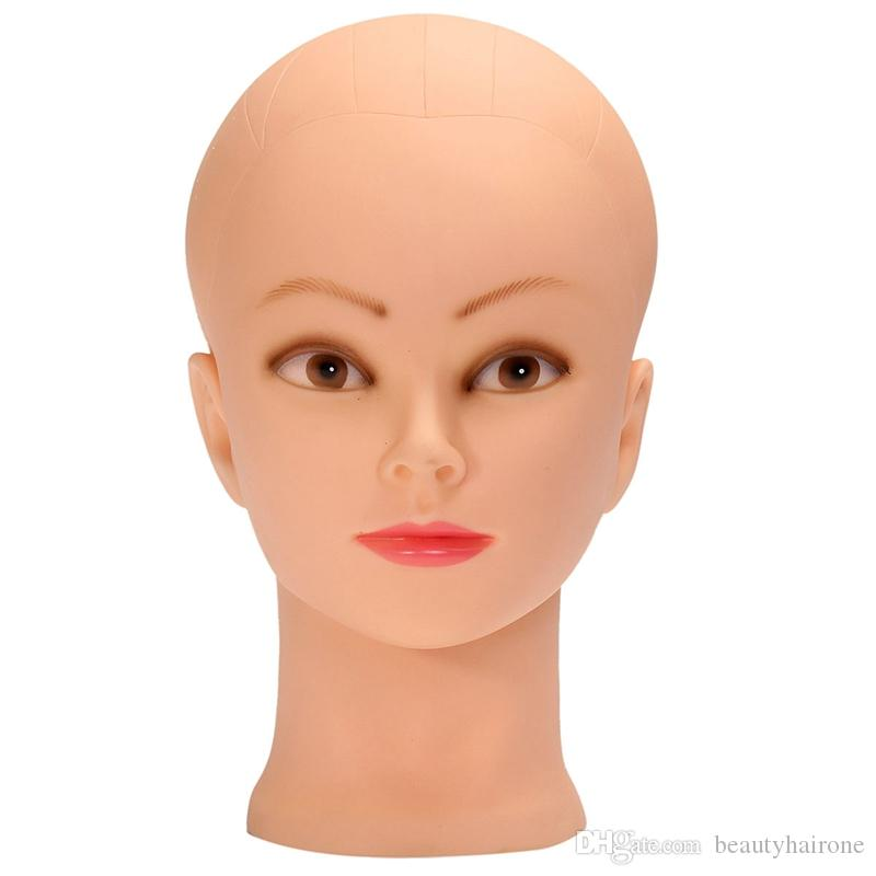 Cosmetic Practice Head Mould Hair Products Display Model Props Cosmetology Hairdressing Doll Women Hairdresser Manikin Head PVC Silica Gel