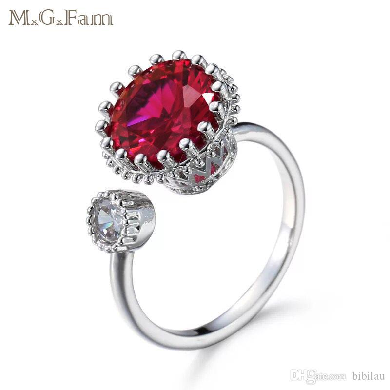 3ffd74d2a 2019 MGFam 193R Red Rings For Fashion Women Daily Wear White Gold Plated  New Jewelry Fashion Cubic Zircon From Bibilau, $3.38 | DHgate.Com