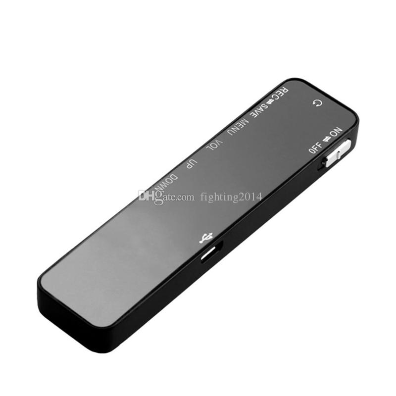 Portable LCD Display digital voice recorder 8GB Recording Pen With MP3 Music Player Mini Digital Audio Voice Recorder Zinc Alloy Shell