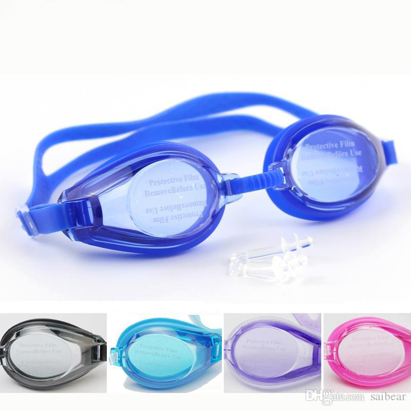 Outdoor Water Sports Swimming Glasses Goggles Underwater Diving Eyeglasses Eyewear Swimwear For Men Women Children w/ Clear Case