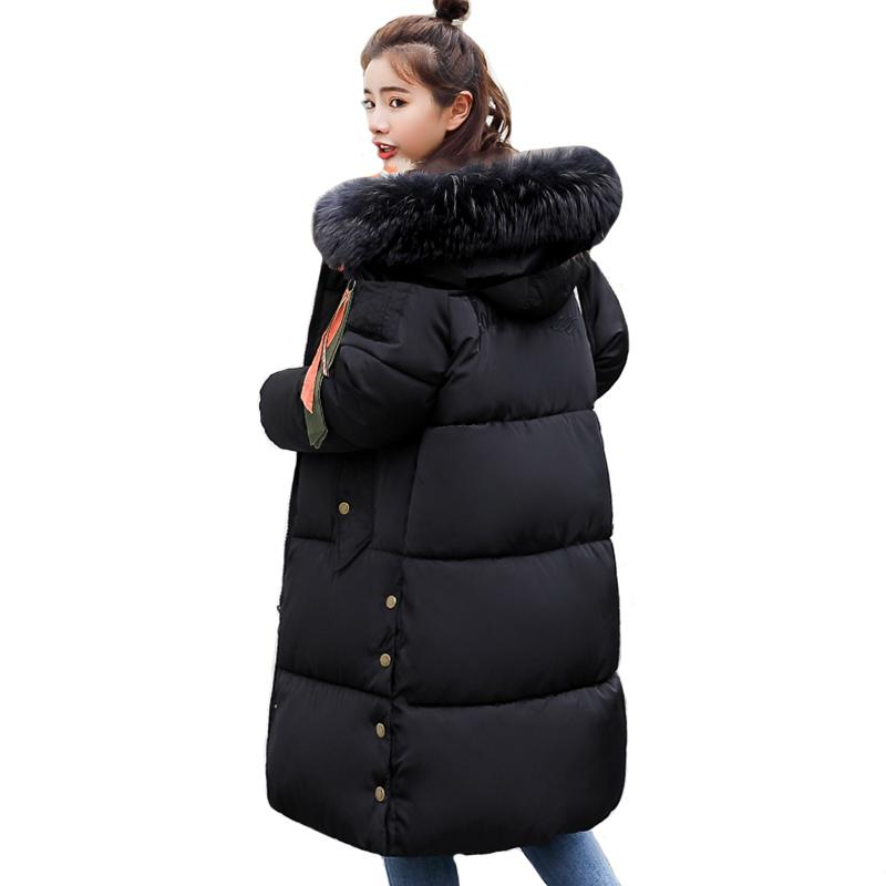 a9d2215cf Oversize Warm Thicken Womens Winter Jackets Hooded Cotton Padded Outwear  Female Coat Winter Women 2018 High Quality Long Parka S18101203
