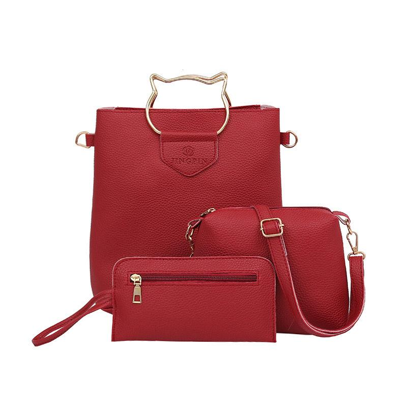Hot Sale Women Female Casual PU Leather Shoulder Bag Simple Fashion Sweet  Cute Ladies Girls Chic Tote Messenger Handbag Leather Backpacks Shoulder  Bags For ... 969d3d18ab4c2