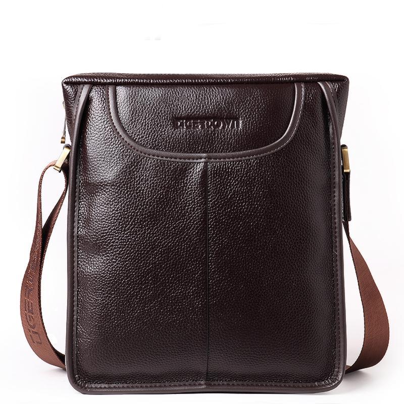 46bd55133bc TIGERTOWN Men s 100% Genuine Leather Real Cowhide Handbag Messenger  Shoulder Briefcase Hand Bag Purse Cross Body Shoulder Bag Crossbody Bags  Messenger Bags ...