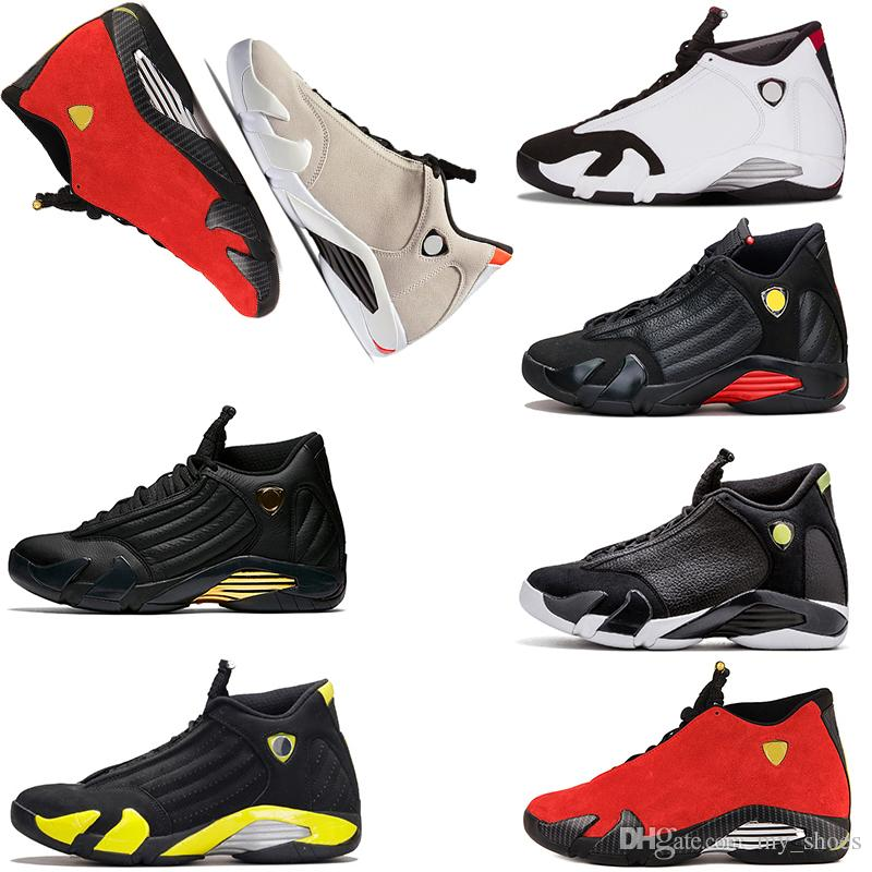 43cec070f1cfb3 2019 2018 New 14 14s Mens Basketball Shoes Last Shot Desert Sand DMP Black  Toe Thunder Indiglo Trainers Sports Sneakers Size 7 13 From My shoes