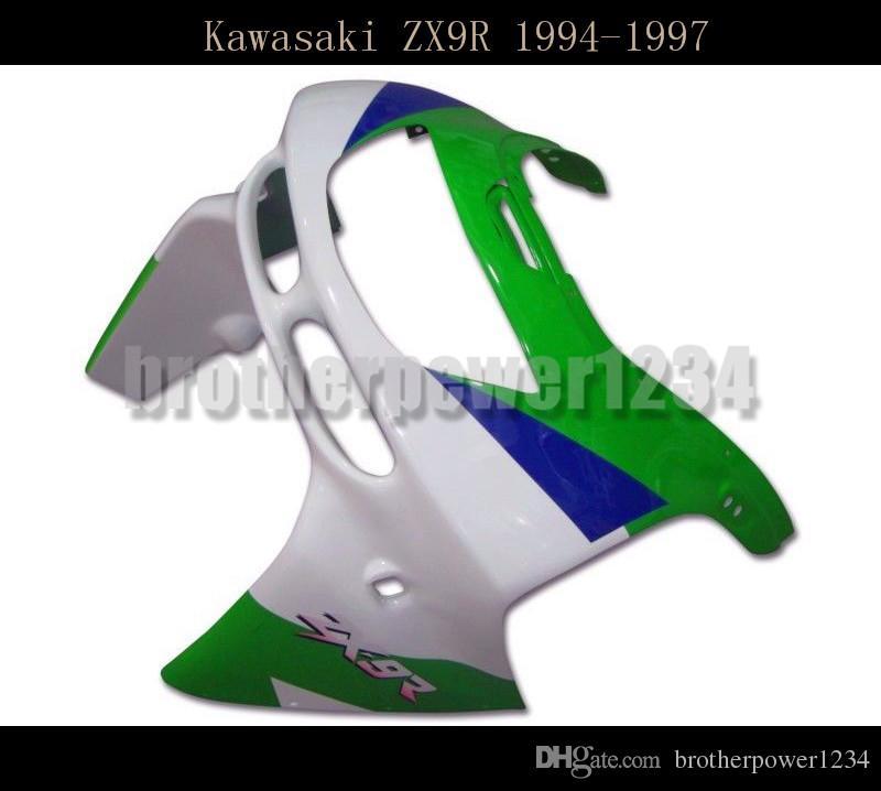 Carrozzeria ABS Green Blue White Cover Carene complete Kawasaki Ninja ZX9R 1994 95 96 1997