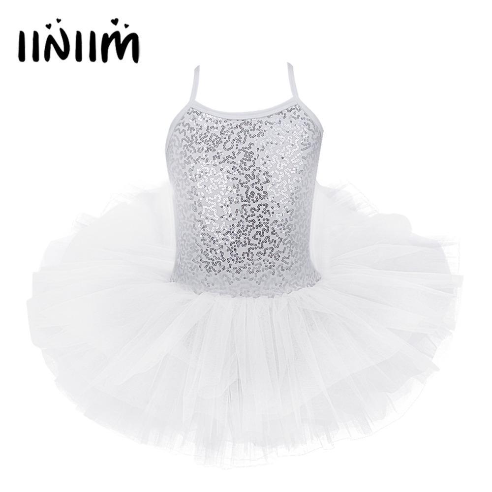 aa3a163b883 Acheter Filles De Noël Ballet Costume Tutu Robe Paillettes Fantaisie Fête  Enfants Ballet Danse Classe Ballerine Robe Gymnastique Justaucorps De   37.87 Du ...