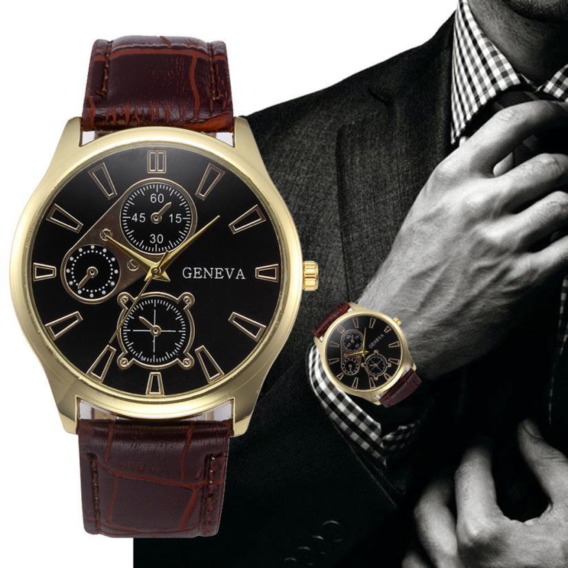 414b4dbf174 Relogio Masculino Clock 3 Eyes DIY Design Mens Watches Top Brand Luxury  Leather Quartz Sports Watches For Men Erkek Kol Saati Watch Sales Watch  Sales Online ...