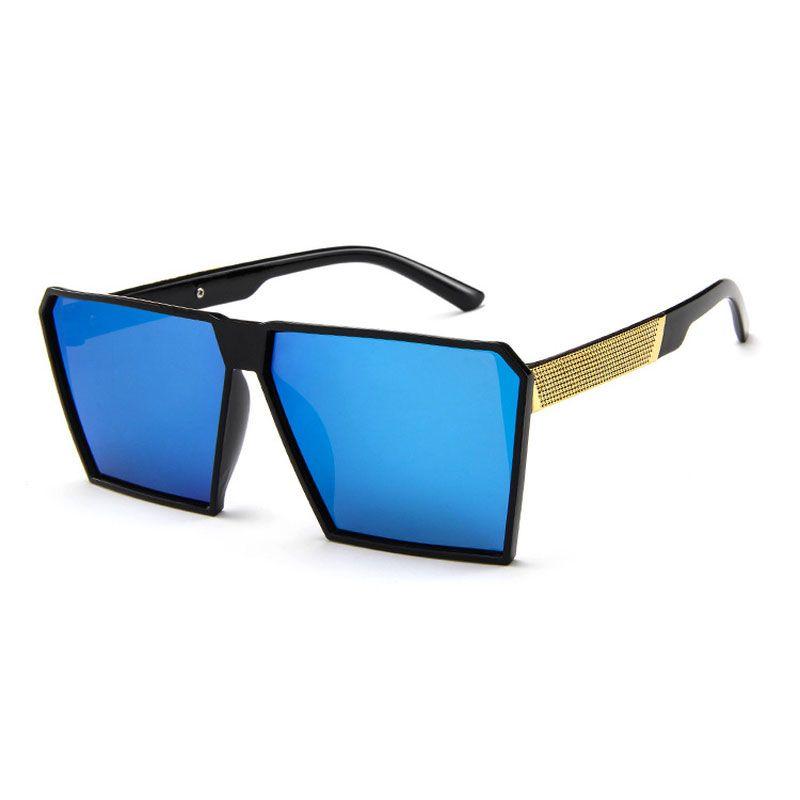 Compre Cuadrada Verde Hombres Gafas Espejo Plata Negro Sol De Retro 0wnOk8P