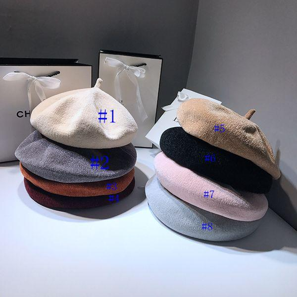 2018 Hot Sell Autumn And Winter Korean Version Lady Beret Hat Female  Pumpkin Hat Retro Woolen Chenille Painter Hat Japanese Fashion Hats Winter  Lady Beret ... d11bb10016b8
