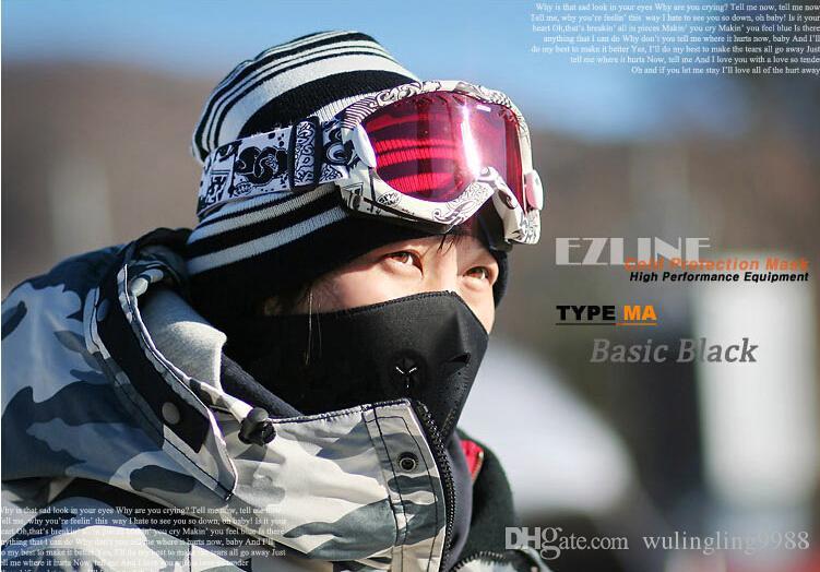 Bisiklet Bisiklet Motosiklet Yarım Yüz Maskesi Sıcak Açık Spor Kayak Maskesi Binmek bisiklet Kap CS Maske Neopren Snowboard Boyun Peçe Bisiklet Eşarp 30 adet