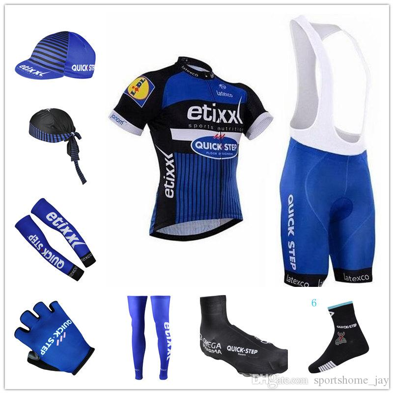 Etixx Quick Step 2017 Roupa Ciclismo Short Sleeves Cycling Jerseys ... 89ffae7ca