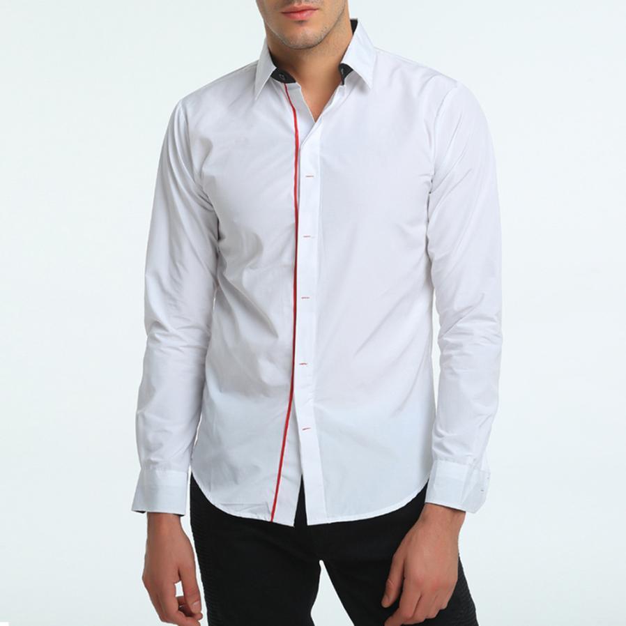 35f73758f7f JAYCOSIN Men S Autumn Casual Shirt Formal Solid Slim Fit LongSleeve Dress  Shirt Top Male Social Dress Shirts Dropshipping 08.16 UK 2019 From Jingju