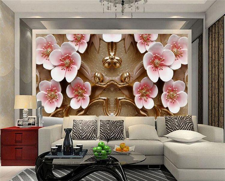 Wallcover Papier Peint tv background wallpaper wallpapers living room bedroom sofa seamless