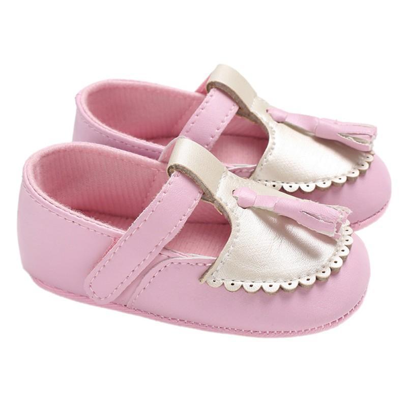 sports shoes e7842 55cc3 Kinder Baby Mädchen Schuhe Prinzessin Frühling Herbst Schuhe PU Leder  rutschfeste weiche Unterseite Kleinkind
