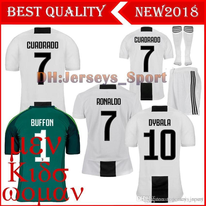 4cf2c0576 New 2018-2019 RONALDO JUVENTUS Soccer Jersey 18-19 JUVE Home Away ...