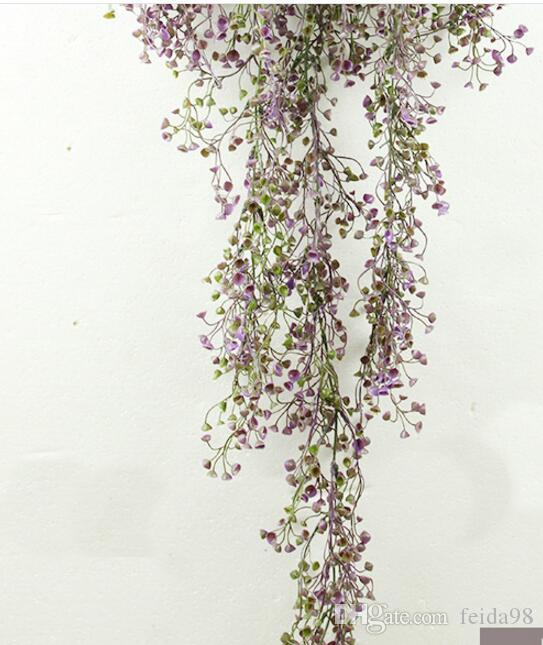 Patlama 115 cm Jinling söğüt duvar asılı simülasyon bitki duvar dekorasyon asılı sepet orkide kamışı plastik sahte çiçek L251