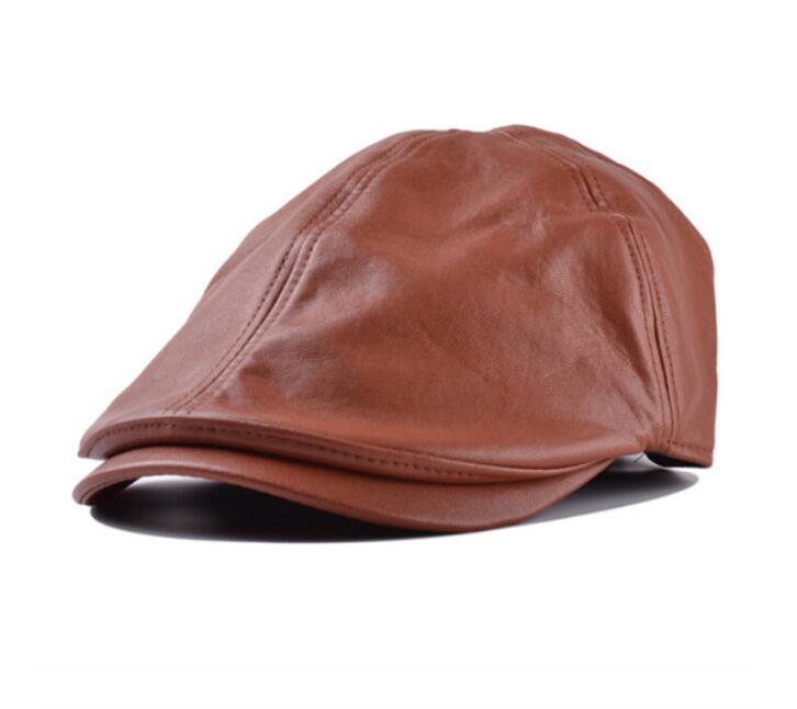 Vintage classic artificial leather newsboy hats for women men fashion brief men designer caps new snapback caps