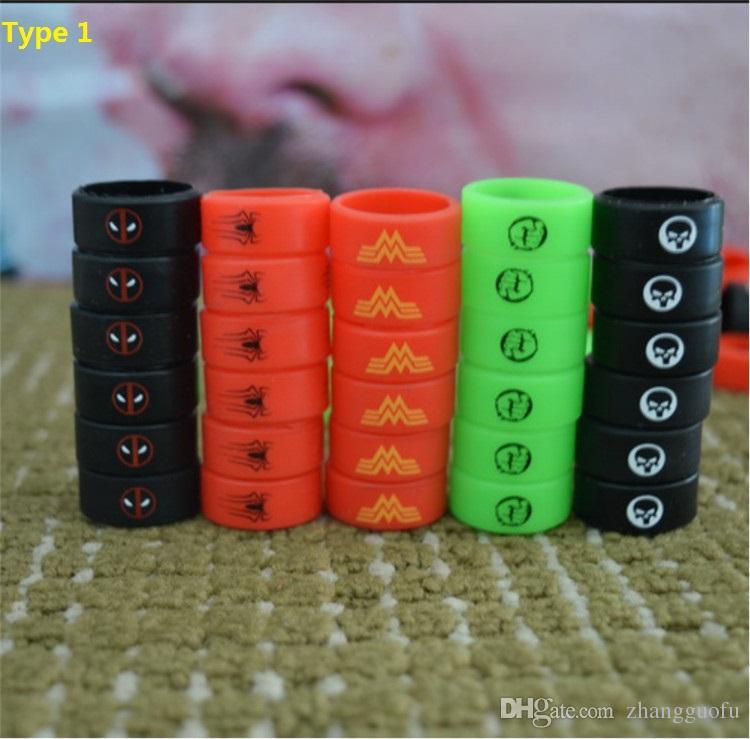 13 Type Silicone Vape Bands Anti Slip Ring 미끄럼 방지 고무 밴드 Mechanical Pouches 링 SMOK TFV8 e-Cig 액세서리