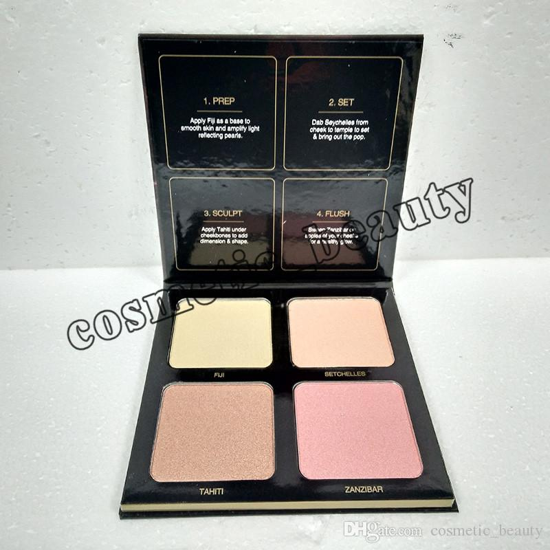 Beauty 3D Highlighters Beauty eyeshadow highlighters golden sands and pink sands highlighters palette Promotion Sale