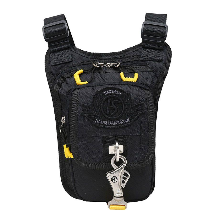 47ad49aed807 Men s Nylon Waist Leg Drop Bag Thigh Crossbody Shoulder Messenger ...