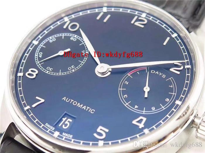 ZF factory Portuguese 7 Day Power Reserve iw 500747 watches Cal.51011 Automatic Movement 316L Steel Case Sapphire Crystal calfskin strap