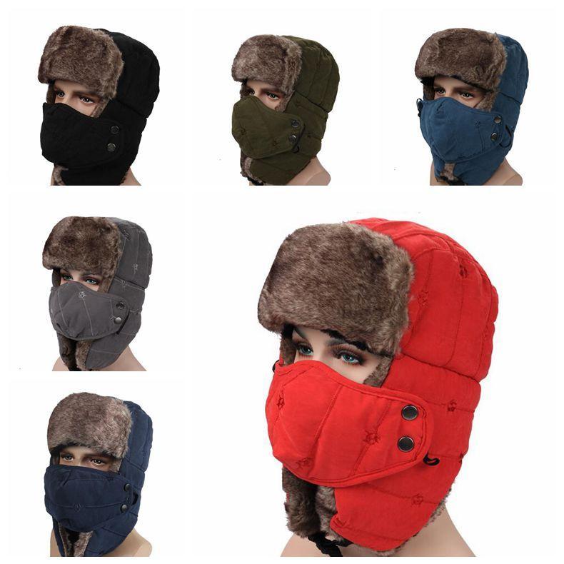 Acquista i Solido Inverno Trapper Cappelli Con Paraorecchie Ushanka Cappello  Russo Inverno All aperto Cappello Caldo Sci Sport Cappelli Cappelli Partito  ... 9c1cc6c892e0