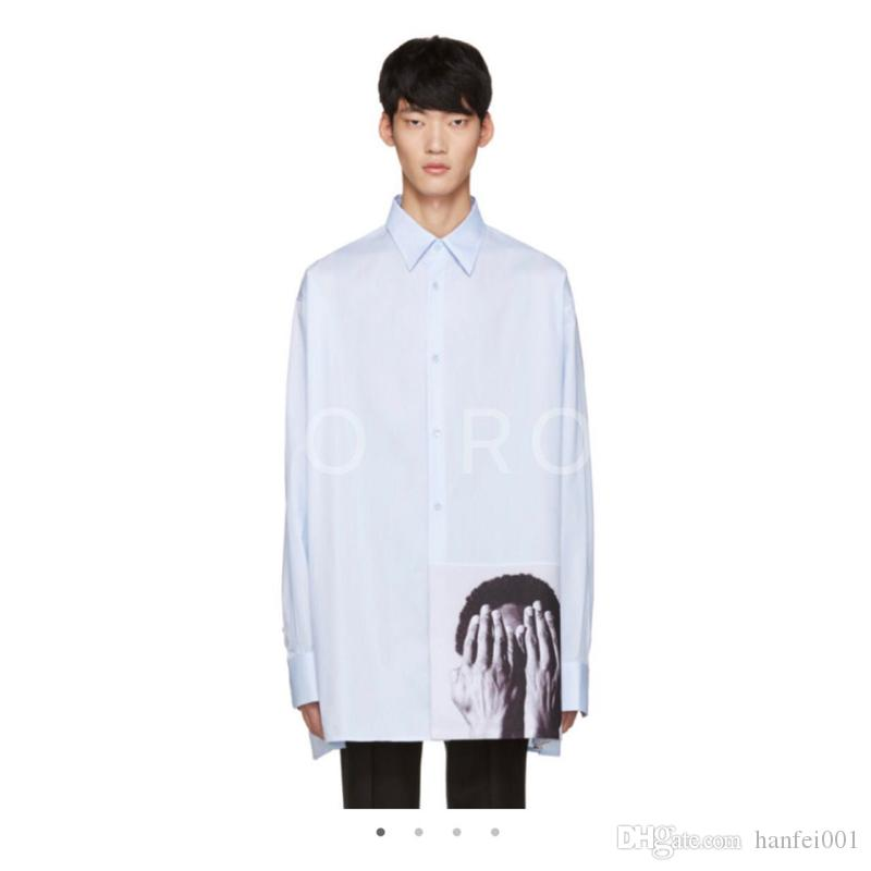 b1419deb0ae Raf Simons Shirt Catwalk Show Cloth Men Women Fashion Oversized Long ...