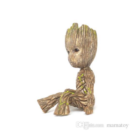 Groot Tree Man und 2 Star Lord Spielzeugfigur PVC Action Figure Puppen mit Box