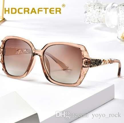 e4953cd3fe54 HDCRAFTER 2018 Luxury Brand Design HD Polarized Sunglasses Women Ladies  Oversized Square UV400 Sun Glasses Female Eyewear Fastrack Sunglasses Smith  ...