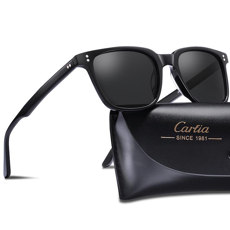 0514e70d2 Compre Polarizada Dos Homens De Carfia Óculos De Sol Do Vintage Óculos  Quadrados De Moda Retro Óculos De Sol Marca Designer De Condução 100%  Proteção UV De ...