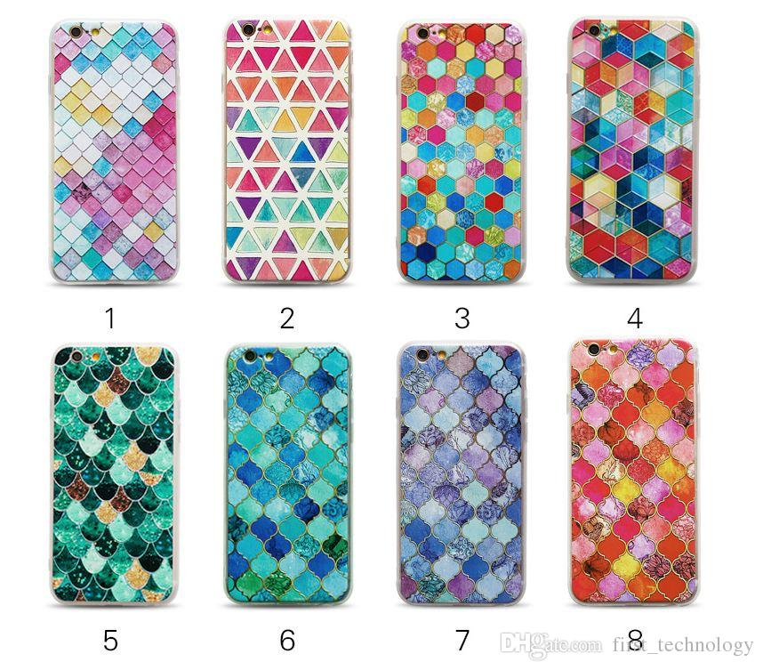 3D Scales Phone Cases For iPhone X 8 7 6 Plus Case Fashion Colorful Mermaid Cover Case