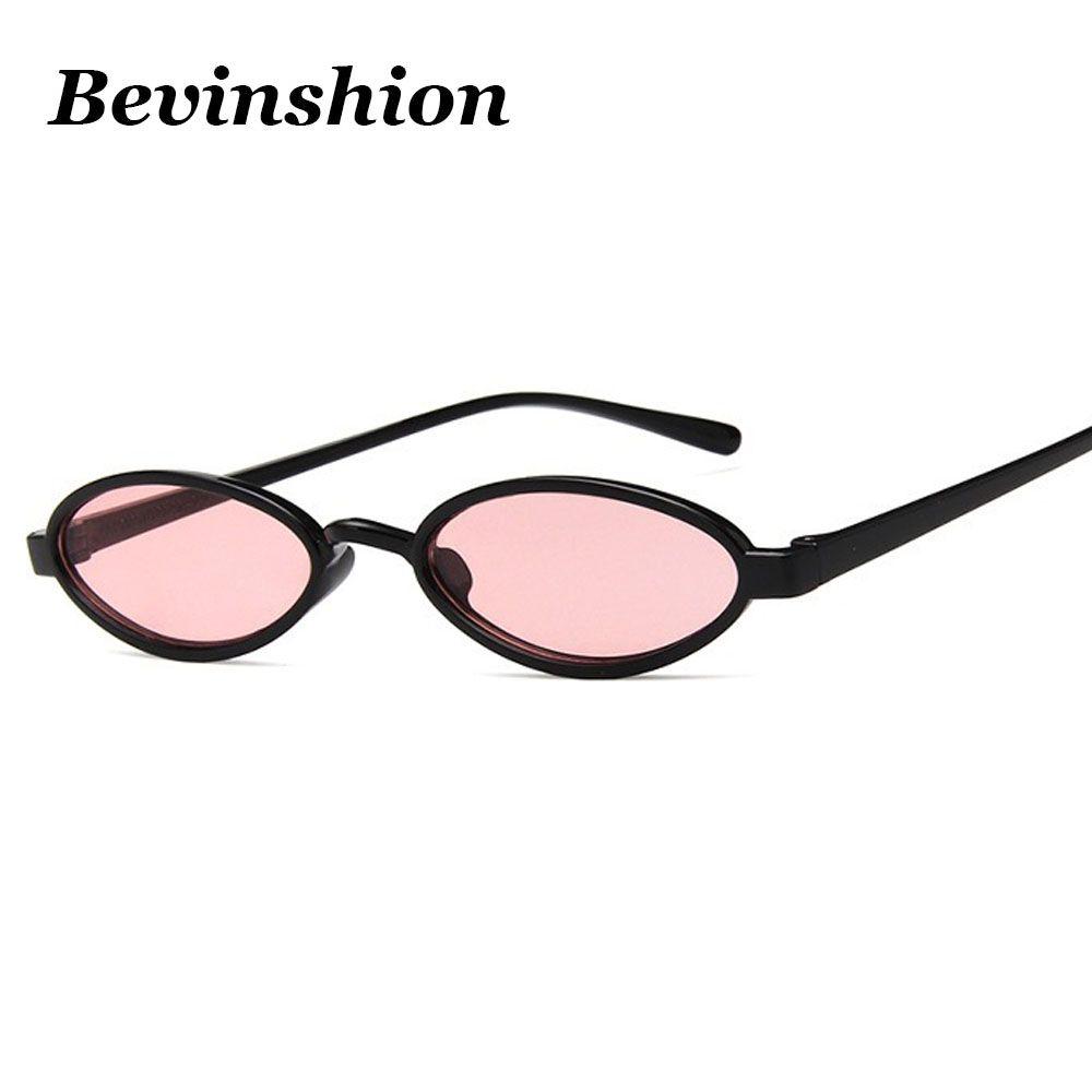 6b43de5898 Trend New 2018 Vintage Small Round Sunglasses Women Brand Mini Cool Oval  Punk Sun Glasses Red Pink Yellow Lens Cheap Glasses Men Vintage Sunglasses  Super ...