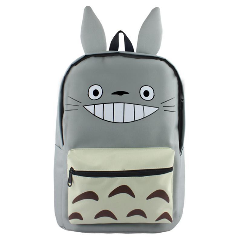 New Hayao Miyazaki Totoro Bag Anime Backpack 2018 Canvas Cartoon Book Bag  Teenagers My Neighbour Totoro Printed School Bags Cute Backpacks Hiking  Backpack ... 79e98a8ad8