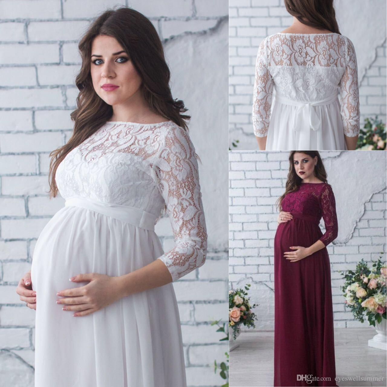 527ac849bd9 Woman Sexey Lace Maternity Dresses Maternity Photography Props Pregnancy  Dress Maxi Photography Photo Pregnant Mommy Maternity Clothes Designer  Formal ...