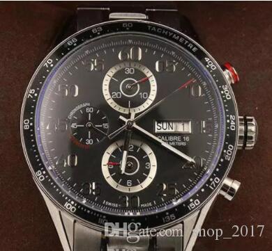 60d3a51788d Compre 2018 Hot Vender Relógios De Pulso De Luxo Automático Movimento  Varrendo Relógios De Luxo 44mm Tamanho Face Preta Relógio Pulseira De Aço  Inoxidável ...