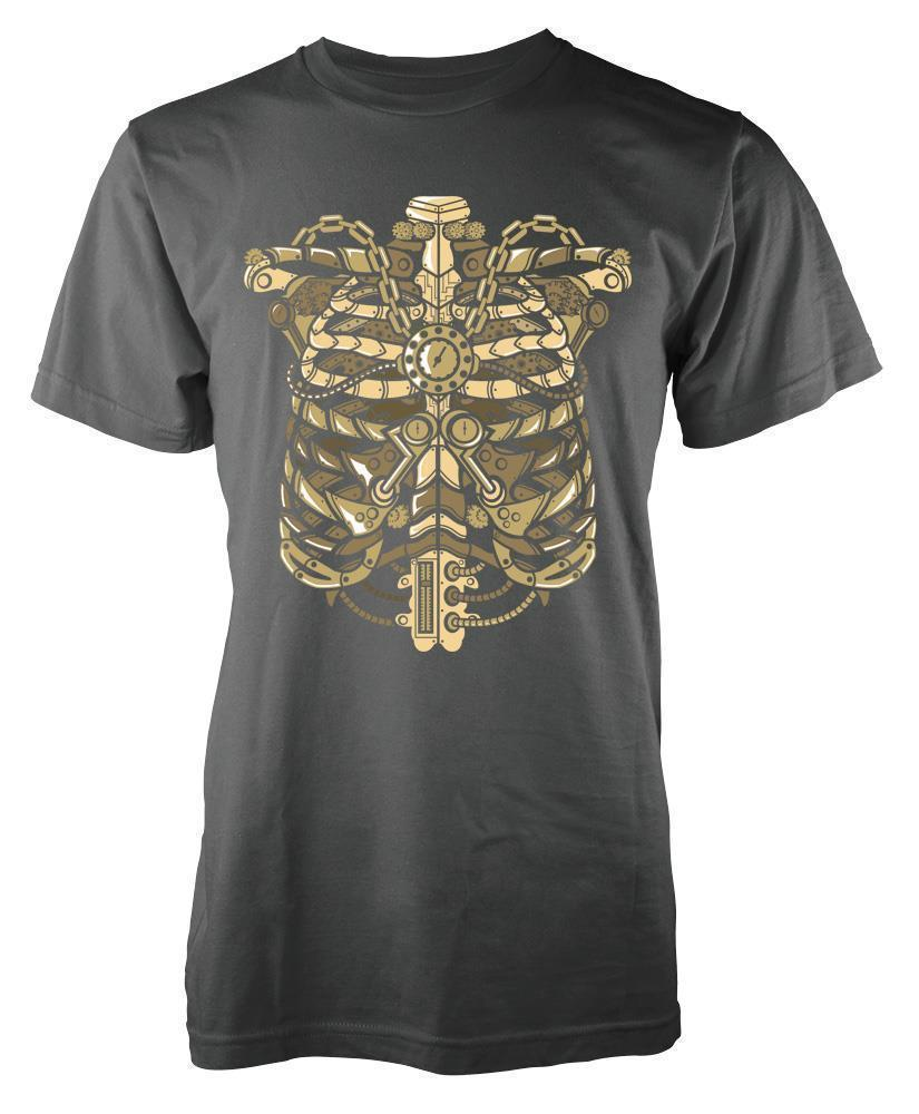 33dc8ccf8 BNWT STEAMPUNK RIB CAGE POCKET WATCH TATTOO ADULT T SHIRT S XXL Humorous T  Shirts T Shirts Funny From Yuxin07, $13.8| DHgate.Com