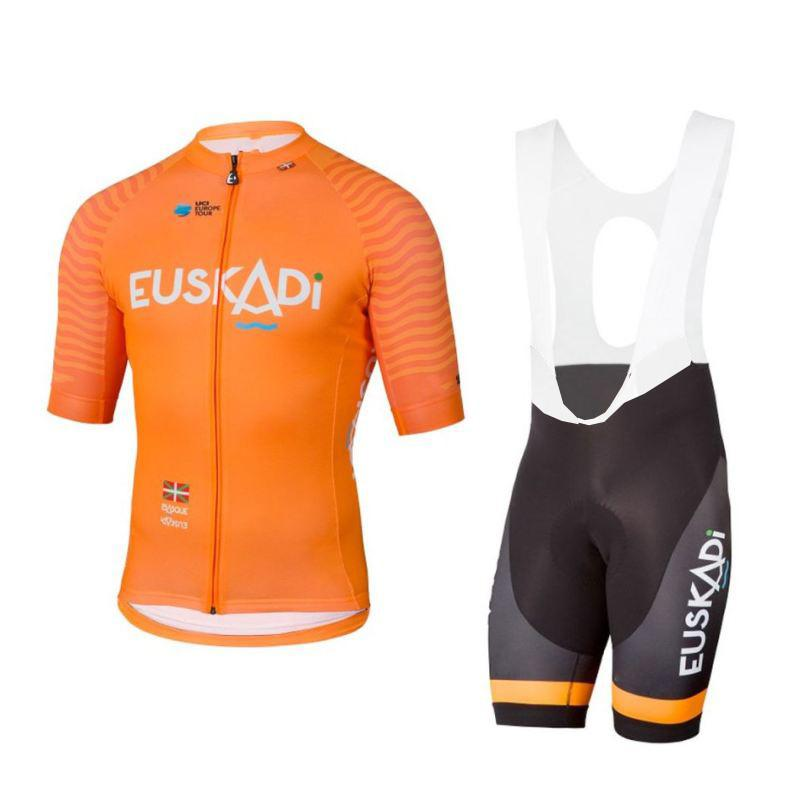 7d7cb3f62 2018 Eroupe Pro Team Orange Euskadi Cycling Jersey Kits Mens Summer Bike  Cloth MTB Ropa Ciclismo Bicycle Maillot Gel Pad Cycling Jersey Template  Cycling Top ...